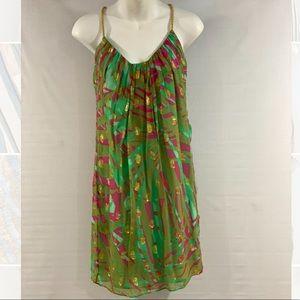 MILLY NYC SILK DRESS.. SZ 2.. SPARKLE & SHINE!